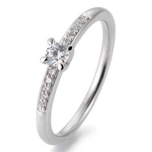 Eleganter Verlobungsring