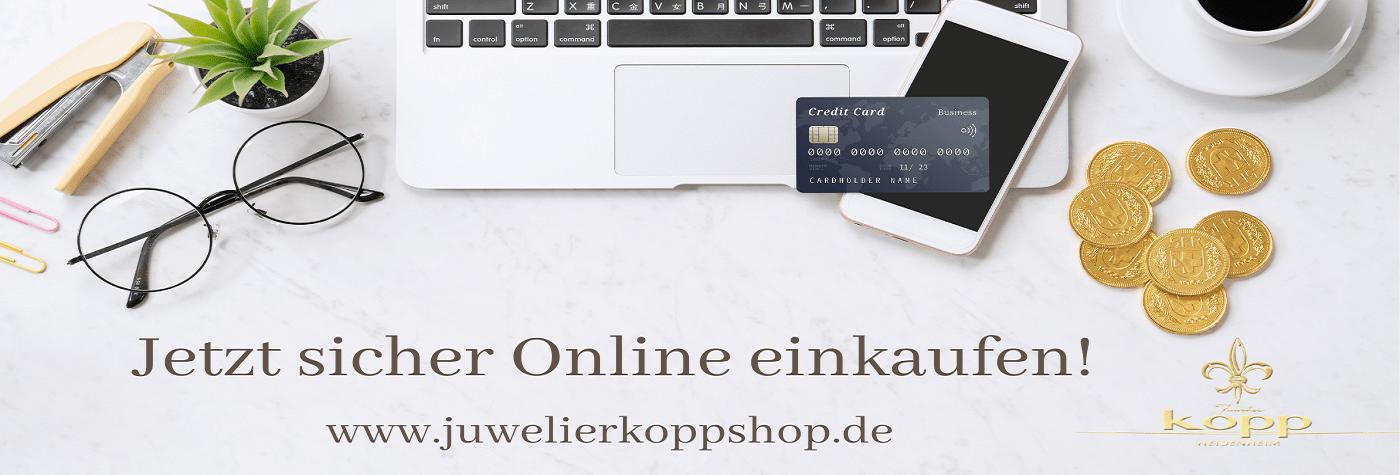 Jetzt sicher online einkaufen im Juwelier Kopp Shop