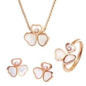 Chopard Happy Hearts Set SA083-5300 - Ring Anhänger Ohrringe