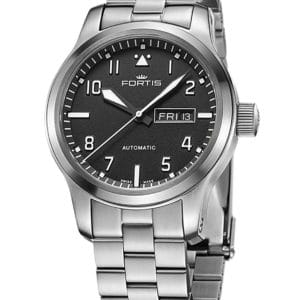 FORTIS Aeromaster Steel Day/Date 655.10.10